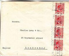 Lituanie - Lettre De 1938 ° - Oblit Kaunas - Exp Vers London - Cachet Mécanique Roulette - Lithuania