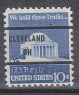 USA Precancel Vorausentwertung Preo, Bureau Ohio, Cleveland 1510-81, PSS 25 $ Type - Vereinigte Staaten