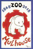 CPM 68200 Cent-cinquantenaire Du Zoo De Mulhouse (Haut-Rhin) Ours Ouson - Other Municipalities
