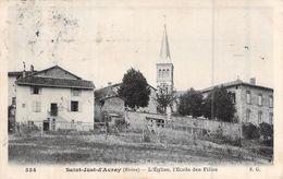 C P A  69] Rhône > SAINT JUST D AVRAY L EGLISE L ECOLE DES FILLES  CIRCULEE RHONE 69 - Otros Municipios