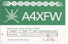 Sultanate Of Oman - Muscat , Robert Mueller -  Kommunikationskarte **AK-01-590** - QSL-Karten