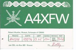 Sultanate Of Oman - Muscat , Robert Mueller -  Kommunikationskarte **AK-01-590** - Tarjetas QSL