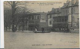 94 SAINT ST MAUR   INONDATIONS 1910 ANIMATION TOP QUAI DE CRETEIL - Saint Maur Des Fosses