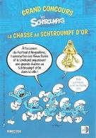 BD - Flyer - Grand Concours Les Schtroumpfs : La Chasse Au Schtroump D'Or - Angoulême 2018 - Bücher, Zeitschriften, Comics
