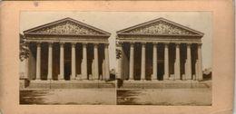 (59)  Photo Originale Sur Carton Fin 1800 Paris La Madeleine  16cm X 8.5cm (Bon Etat) - Photos Stéréoscopiques