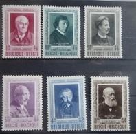 BELGIE 1952    Nr. 892 - 897   Scharnier *     CW 53,00 - Unused Stamps