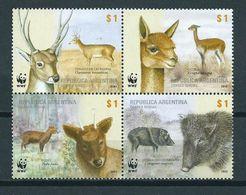 2002 Argentina Complete Set Animals,dieren,tiere,WWF MNH/postfris/neuf Sans Charniere - Argentinië