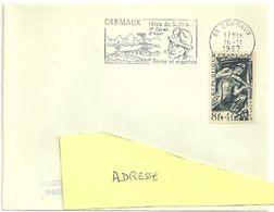 TARN - Dépt N° 81 = CARMAUX 1967 =  FLAMME CONCORDANTE N° 825 = SECAP Illustrée D'un MINEUR  'Fêtes De St PRIVAT ' - Postmark Collection (Covers)