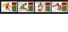 Zambia-1988,(Mi.464-467),Football, Soccer, Fussball,calcio,MNH - Soccer