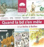 Programme - Quand La BD S'en Mêle : Carte Blanche à La Boîte à Bulles - MPP Angoulême 2018 - [Cénou, Marot, Baloup...] - Programas