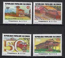 """Congo YT 734 à 737 """" Chemin De Fer Congo-Océan """" 1984 Neuf** - Congo - Brazzaville"""