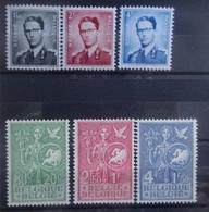 BELGIE 1953    Nr. 924 - 926 / 927 - 929    Licht Spoor Van Scharnier *   CW  47,50 - Unused Stamps
