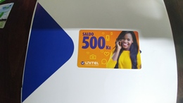 Angola-unitel-(44)-(saldo 500kz)-used+1card Prepiad Free - Angola