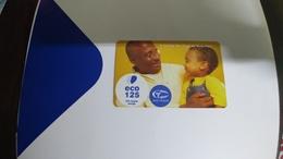 Angola-angola Telecom-(45)-(125eco-125utt)-used+1card Prepiad Free - Angola