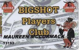 Carte De Membre : Bighorn & Longhorn Casino : Bight Players Club - Cartes De Casino