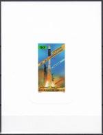 Djibouti ScC216 Telecommunications Development, Space, Ariane Rocket, Espace, Deluxe Proof, Epreuve - Space