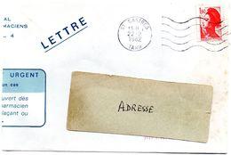 TARN - Dépt N° 81 = CASTRES 1982 =  FLAMME Codée à DROITE = SECAP Muette '5 Lignes Ondulées' - Postmark Collection (Covers)