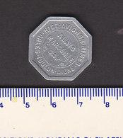 _ Monnaie Necessité Marseille (13) Bouches Du Rhone  .. 25c Chambre De Commerce 1921 Aluminium - Monétaires / De Nécessité