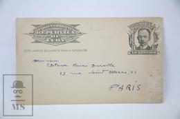Old Cuba Postal Stationary - Republica De Cuba - 1920's - Cuba