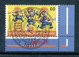 GERMANY Mi.Nr.  3099 50 Jahre Deutsche Jugendfeuerwehr - ESST -BERLIN -Eckrand Unten Rechts - Used - Gebraucht