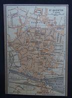 Plan Ancien De Saint-Quentin, ( AISNE ), Datant De 1906. - Cartes Géographiques