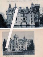"""La Mothe Chandeniers -Les Trois Moutiers (86): Chateau- Lot De 4 Cartes Différentes La Carte""""côté Ouest """"est Peu Commune - Les Trois Moutiers"""