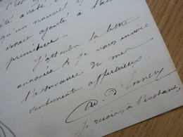 Adolphe D'ENNERY (1811-1899) Romancier & Auteur Dramatique. Les Deux Orphelines - AUTOGRAPHE - Autographes