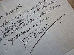 Pierre FRONDAIE (1884-1948) Romancier & Dramaturge. L'HOMME à L'HISPANO - AUTOGRAPHE - Autographes