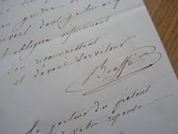 Hugues BOUFFÉ (1800-1888) Comédien Théâtre - Directeur GYMNASE - Vaudeville - AUTOGRAPHE - Autographes