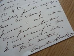 Augustine BROHAN (1824-1893) Actrice THEATRE & Salonnière. Maitresse Napoleon III. AUTOGRAPHE - Autographes