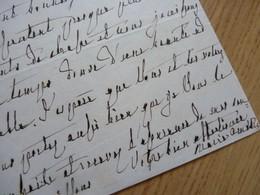 Reine MARIE AMELIE (1782-1866) Epouse ROI Louis Philippe - AUTOGRAPHE Exil CLAREMONT 1859 - Autographes