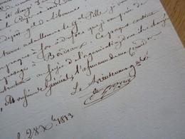 General EMPIRE (1813) Honoré GAZAN (1765-1845) Corps Espagnols à LIBOURNE. AUTOGRAPHE [ Retraite Espagne Napoleon ] - Autographes
