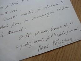 René FAUCHOIS (1882-1962) Ecrivain & Dramaturge. BOUDU. Librettiste Fauré & Hahn. AUTOGRAPHE - Autografi