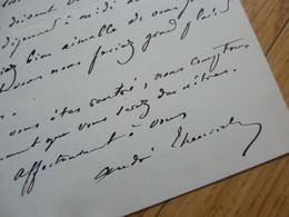 André THEURIET (1833-1907) Poète & Auteur Dramatique ACADEMIE FRANCAISE - AUTOGRAPHE - Autographes