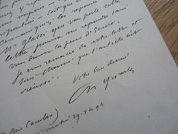 Charles YRIARTE (1832-1898) Dessinateur. Journaliste [ Garibaldi ] AUTOGRAPHE - Autographes