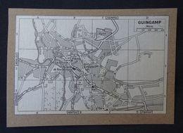 Plan Ancien De Guingamp, ( Côtes-d'Armor ), Datant De 1949. - Cartes Géographiques