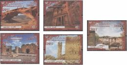 Jordan 2017 World Heritage Sites 5v Mint - Jordanie