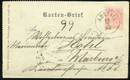 AUSTRIA SLOVENIA 1892. Abstall, Apače Old Letter Card Stationery - Other