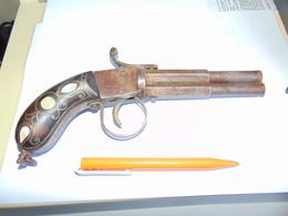 Pistolet A Silex Reproduction  Canons Tournant - Decorative Weapons