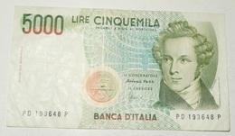 BANCONOTA 5000 LIRE – BELLINI – 04/01/1985 – SERIE PD – (D) - [ 2] 1946-… : Républic
