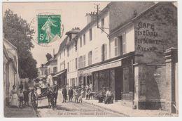 26376 BRUAY - D' EAUBONNE - RUE D' ERMONT RESTAURANT PFEUTY- CAFE DES 2 GARES - éd ND -charette -biere Jolivet - Bruay Sur Escaut