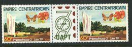 219 CENTRAFRICAINE (Rep) 1979 - Yvert 387 A - Philex - Papillon Fleur - Vignette UAPT 79 - Neuf ** (MNH) Sans Charniere - República Centroafricana