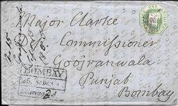 WHITESTONE DEVON EXETER  ENVELOPPE CIRCULEE TO BOMBAY PUNJAB INDIA YEAR 1855 FULL CONTENT INSIDE SUPERBE - Briefe U. Dokumente