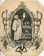 A VOIR ! EX-LIBRIS ANCIEN DOCTEUR HENRY BLANC BORDEAUX THEMES VIN VIGNE PRODUIT PHARMACEUTIQUE PHARMACIE GIRONDE LIVRES - Ex-libris