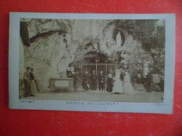 Image Pieuse Photo Albumine - Religion Catholique Grotte De Lourdes - - Religion & Esotericism
