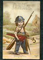 CPA - GRAINE DE POILU - Il Pleut, Il Pleut Bergère ! Sur Mon Papa, Sur Ses Copains,.... - War 1914-18