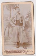 26379 Photo Carte Visite  Medea Algerie -costume Traditionnel Zouave Militaire- Jean Guilardelli Rue Jean Huss - Afrique