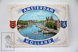 Vintage 1960's Amsterdam, Holland Postcard Folder - 8 Colour Postcards - Amsterdam