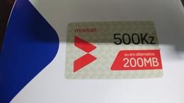 Angola-moviel-(62)-14.9.2020-(500kz-200mb-69.44utt)-used+1card Prepiad Free - Angola