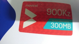 Angola-moviel-(64)-14.9.2020-(900kz-300mb-125utt)-used+1card Prepiad Free - Angola